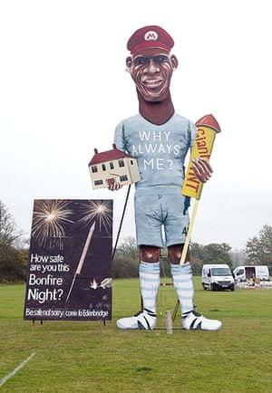 bad boy balotelli: Bonfire night effigy of footballer Mario Balotelli