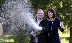 Lottery jackpot couple