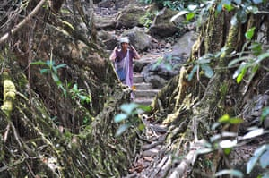 Meghalaya: A woman carrying a case