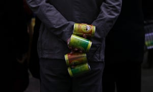 For sale: clean air! A man holds cans of fresh air which were given away by Chinese multimillionaire Chen Guangbiao  on a hazy day in Beijing. The worst air pollution in memory has rekindled a tongue-in-cheek campaign by Guangbiao selling canned fresh air purportedly from far-flung and pristine regions of China.