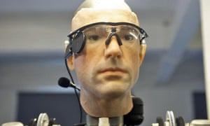 Face of a bionic man