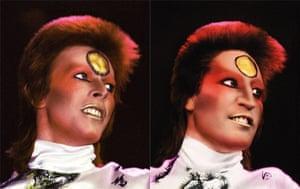 Noel Fielding - Glam: David Bowie and Noel Fielding dressed as Bowie