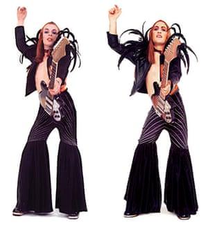 Noel Fielding - Glam: Brian Eno and Noel Fielding dressed as Eno