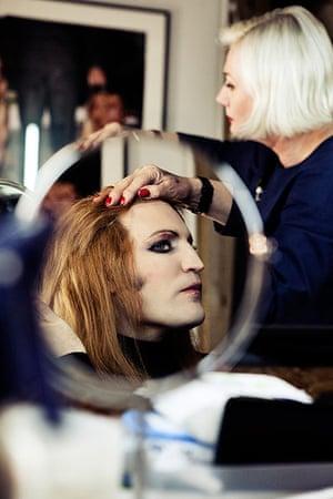 Noel Fielding - Glam: Noel Fielding with wig attached