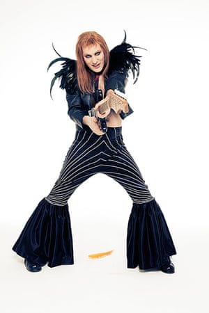 Noel Fielding - Glam: Noel Fielding dressed as Brian Eno