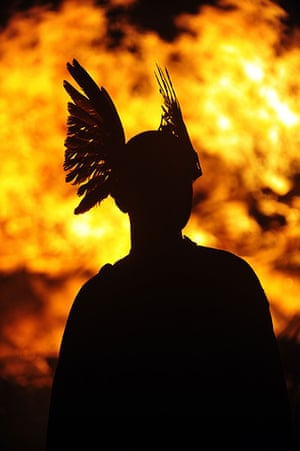 24 hours in pictures: Members of the 2013 'Jarl Squad' prepare for annual Up Helly Aa festival