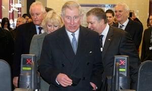 Prince Charles at London Underground ticket barrier