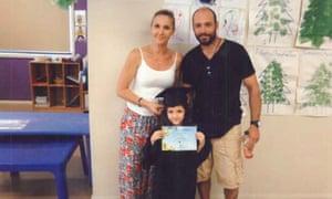 Litsa Georgiou and Vlassis Georgiou with their daughter IIiana.