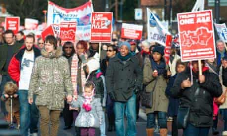 Save Lewisham Hospital protest march, London, Britain - 26 Jan 2013