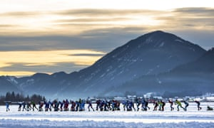 Dutch Open Championship on natural ice at the Weissensee, Austria