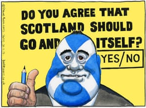 31.01.13: Steve Bell on the wording of the Scottish independence referendum question