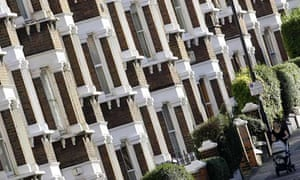 Row of terraced houses in London Picture by James Boardman.