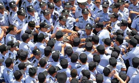 Police in Qidong riots