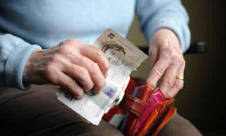 Female old aged pensioner
