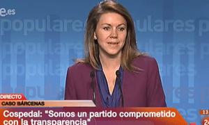 María Dolores de Cospedal, secretary general of the PP.