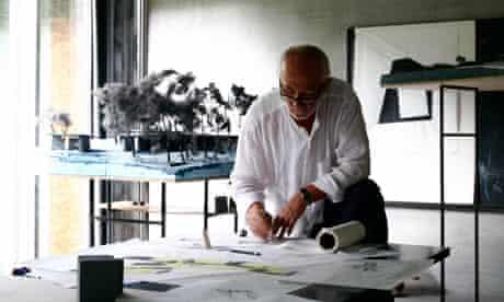 Peter Zumthor at work in his studio