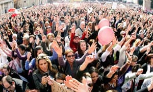 Women protest in Rome over the Berlusconi sex scandal in 2011