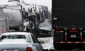 bad weather and road accidents in Detroit