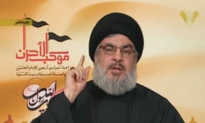 Hassan Nasrallah, head of Lebanon's Hezbollah movement, in a television address calling on Lebanese government to back political settlement in Syria.