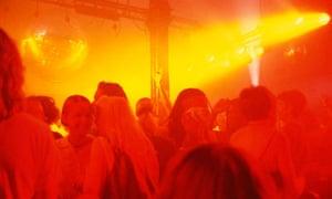 The dancefloor at the Hacienda, Manchester