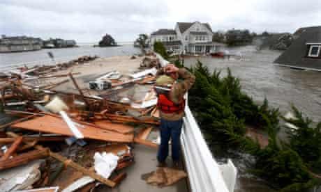 morning after superstorm Sandy rolled through in Mantoloking, N.J