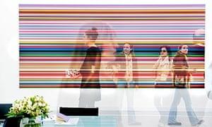 Gerhard Richter, Strip, at Frieze Art Fair 2011.