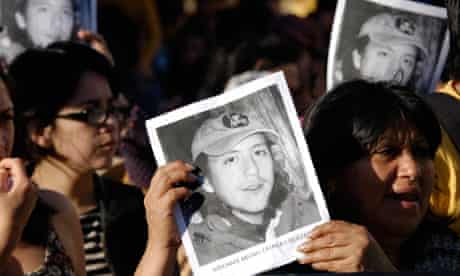 Mapuche protesters