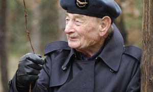Former prisoner of war Alfie Fripp, who died last week, at the Stalag Luft III camp in Zagan