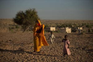 Chad Stunted Nation:  Achta, right, walks with her mother Fatme Ousmane