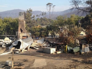 Bushfires: House destroyed by a bush fire