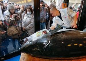 tuna: Tuna sells for record 1.7 million dollars at Japan fish market