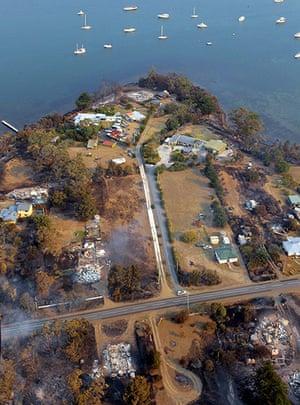 Bushfires: Bushfire damage in Tasmania