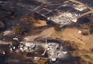 Bushfires: Homes damaged by a bushfire