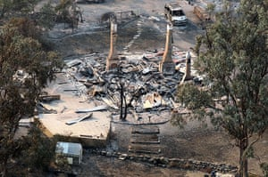 Bushfires: Damage in Tasmania