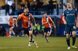 luton v wolves: Alex Lawless celebrates scoring