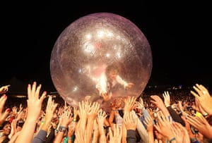 Week in Music: Wayne Coyne of the Flaming Lips crowd surfs at The Falls Music Festival