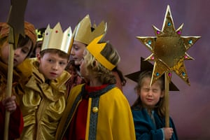 Epiphany Day: Carolers in Germany on Epiphany day