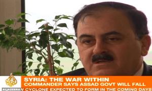 Salim Idris of the Free Syrian Army