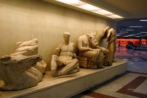 World subways: Acropolis metro station interior, Athens