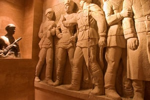World subways: Sculpture at Terrorhaza Museum, Budapest