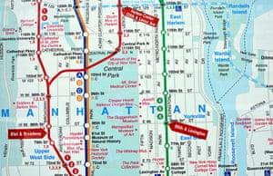 World subways: Subway plan Manhattan, New York, USA