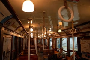 World subways: Interior of old subway carriage, Buenos Aires