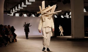 A model presents a creation by Craig Green during London Collections: Men