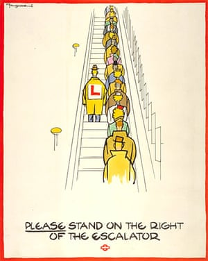 Tube Posters: Please stand on the right of the escalator