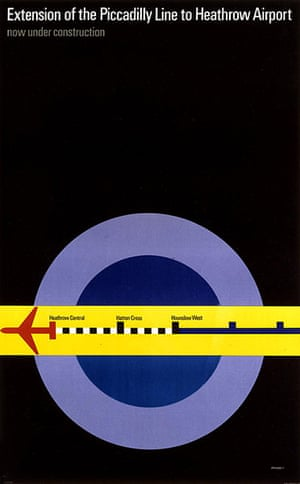 Tube Posters: Extension of the Piccadilly line to Heathrow
