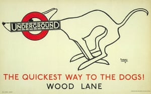 Tube Posters: The quickest way to the dogs