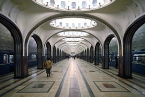 World tubes: Mayakovskaja Metro Station, Moscow, Russia