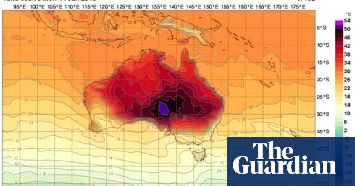 The Map Australia.Australia Adds New Colour To Temperature Maps As Heat Soars