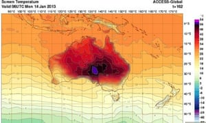 Australia adds new colour to temperature maps as heat soars ...