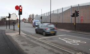 Police chase crash scene